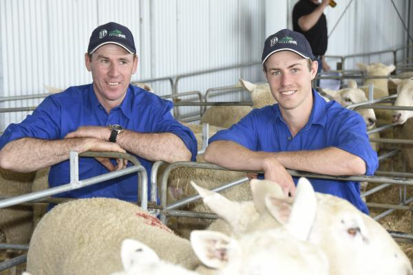 Rick and Brodhi at their Last Ram Sale - October 2018