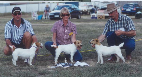 Melrae Shelby, Peter Stibbard, Melrae Tash, Karen Shbbard, Melrae Spring, Norm Hoare - 2000