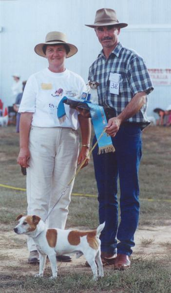 Best Veteran Jackian Rufus with Norm Hoare and Judge Shirley Foster, National Show 2000